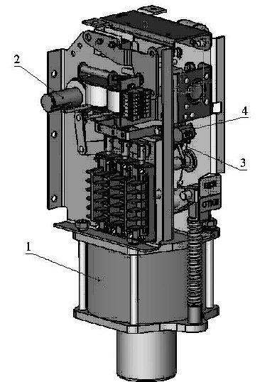 Вакуумный выключатель ВВУ-10кВ с пружинно-моторным приводом и с магнитной защёлкой.