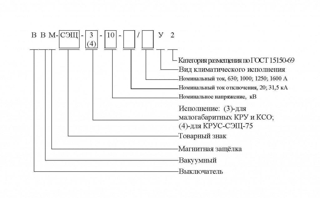 Вакуумный выключатель ВВМ-СЭЩ-3-10
